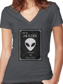 House Mulder Women's Fitted V-Neck T-Shirt