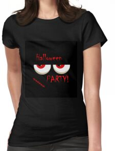 Halloween party - monsters red eyes Womens Fitted T-Shirt