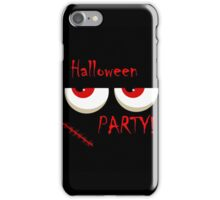 Halloween party - monsters red eyes iPhone Case/Skin