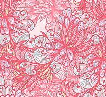 Pink floral pattern by Patternalized