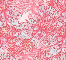 Pink floral pattern by Patternalized