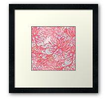 Pink floral pattern Framed Print