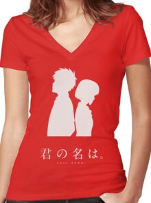 Kimi No Na Wa (Dark) Women's Fitted V-Neck T-Shirt
