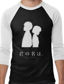 Kimi No Na Wa (Dark) Men's Baseball ¾ T-Shirt