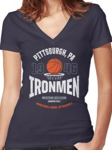 PITTSBURGH IRONMEN Women's Fitted V-Neck T-Shirt