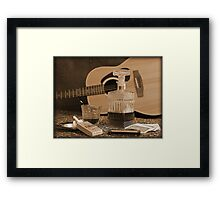 To Relax is to Inspire, when making music Framed Print