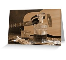 To Relax is to Inspire, when making music Greeting Card