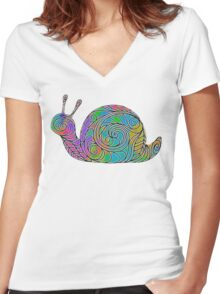 After The Rain Women's Fitted V-Neck T-Shirt
