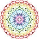Rainbow Ombre Mandala by Pip Gerard