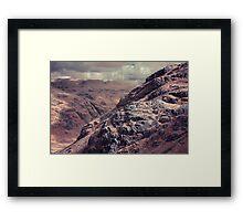 Black Wars, Langdale Valley, The Lake District Framed Print