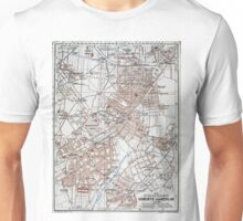 Vintage Map of The Berlin Germany Suburbs (1914)  Unisex T-Shirt