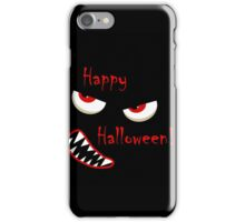 Happy Halloween - red eyes monster iPhone Case/Skin