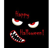 Happy Halloween - red eyes monster Photographic Print