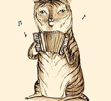 Accordion Tiger by Sophie Corrigan