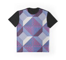 optical square pattern Graphic T-Shirt