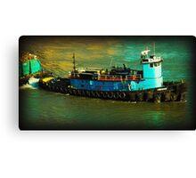 Little Blue Tug - New York City Canvas Print