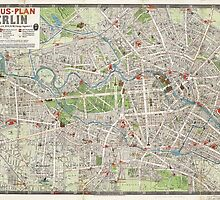 Vintage Map of Berlin Germany (1905) by BravuraMedia
