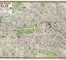 Vintage Map of Berlin Germany (1905) by BravuraMedia