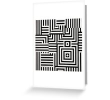 Vasarely: Black & White Greeting Card