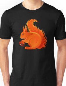 Orange Squirrel Holding Nut Unisex T-Shirt
