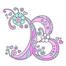The Letter B decorative doodle monogram by Sarah Trett