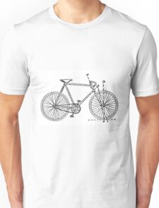 Bicycle Blueprint Unisex T-Shirt