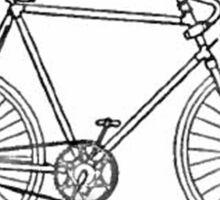 Bicycle Blueprint Sticker