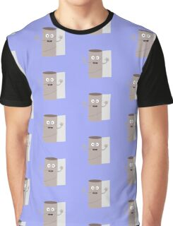 Empty Toilet paper roll with face Graphic T-Shirt