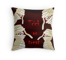 Trick or treat - Halloween mummy Throw Pillow