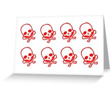 Death Skulls Pattern Greeting Card