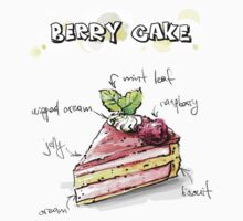 Berry Cake Illustration with Ingredients Kids Clothes