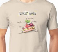 Berry Cake Illustration with Ingredients Unisex T-Shirt