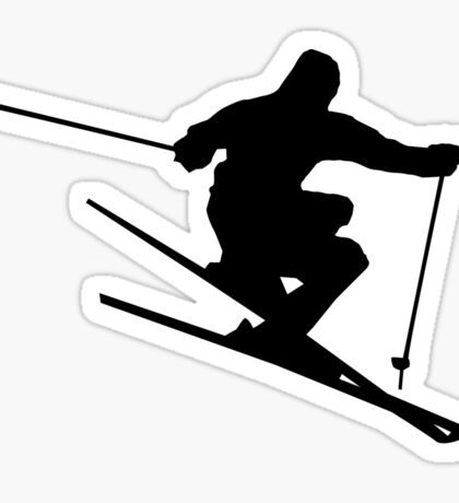 Skiing Silhouette Sticker