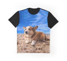 Welsh Corgi on the Beach Graphic T-Shirt