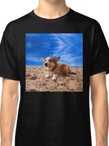 Welsh Corgi on the Beach Classic T-Shirt