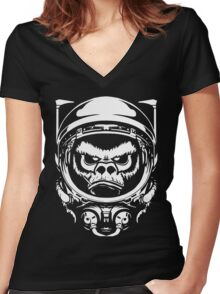 Cosmic Monkey Women's Fitted V-Neck T-Shirt