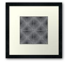 optical ball pattern Framed Print