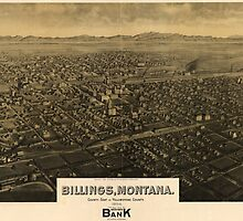 Vintage Pictorial Map of Billings Montana (1904) by BravuraMedia