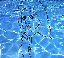 Lana Del Rey pool by Makemefeelyuck