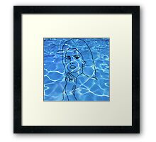 Lana Del Rey pool Framed Print