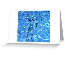 Lana Del Rey pool Greeting Card