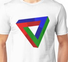 Impossible Illusion Triangle Unisex T-Shirt
