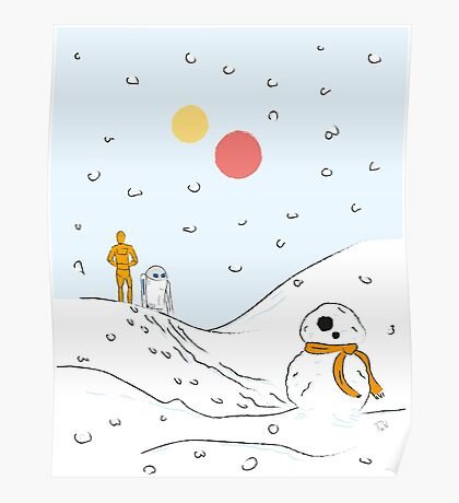 A Very BB8 Christmas Poster