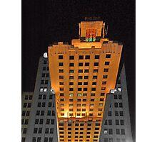 Skyscraper at night Photographic Print