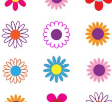 Colorful Flowers Pattern Sticker