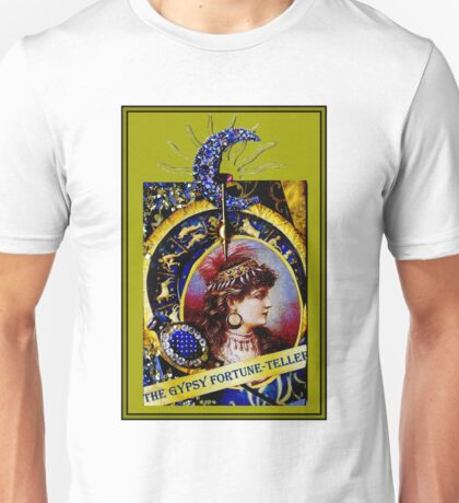 THE GYPSY FORTUNE-TELLER; Vintage Print Unisex T-Shirt