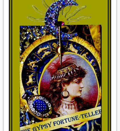 THE GYPSY FORTUNE-TELLER; Vintage Print Sticker