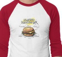 Classic Hamburger Illustration with Ingredients Men's Baseball ¾ T-Shirt