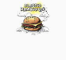 Classic Hamburger Illustration with Ingredients Men's Baseball ¾ T-Shirt