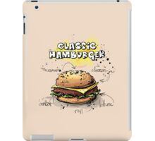 Classic Hamburger Illustration with Ingredients iPad Case/Skin